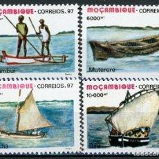 Sellos: MOZAMBIQUE 1997 IVERT 1328/31 *** EMBARCACIONES TIPICAS - BARCOS. Lote 158373926