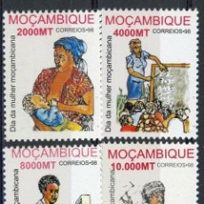 Sellos: MOZAMBIQUE 1998 IVERT 1370B/70E *** DÍA DE LA MUJER MOZAMBIQUEÑA. Lote 158374690