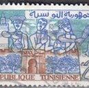 Sellos: TUNEZ - UN SELLO - IVERT #484 -***LA VIDA EN TUNEZ***- AÑO 1959 - USADO. Lote 158568726