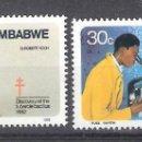 Sellos: ZIMBABUE Nº 43/44º CENTENARIO DEL DESCUBRIMIENTO DEL BACILO DE LA TUBERCULOSIS POR KOCH. COMPLETA. Lote 160170406