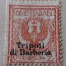Sellos: LIBIA. POSTE ITALIANE. TRIPOLI DI BARBERIA. 1910. 2 CENTS.. Lote 160395890