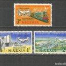 Sellos: NIGERIA 20 ANIVERSARIO DE LAS NACIONES UNIDAS YVERT NUM. 191/193 * SERIE COMPLETA CON FIJASELLOS. Lote 160445338