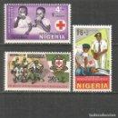 Sellos: NIGERIA CRUZ ROJA YVERT NUM. 203/205 * SERIE COMPLETA CON FIJASELLOS. Lote 160445726