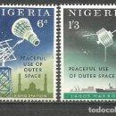 Sellos: NIGERIA EXPLORACION DEL ESPACIO YVERT NUM. 139/140 ** SERIE COMPLETA SIN FIJASELLOS. Lote 160480102