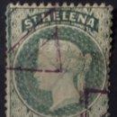 Sellos: PRECIOSO SELLO DE SANTA HELENA DE 1889 CON MATASELLOS TRIANGULARES. Lote 160522801