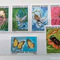 Stamps - REPÚBLICA DE CHAD, 6 SELLOS USADOS - 161617802