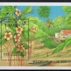 Sellos: GAMBIA 1987 HB IVERT 36 *** FLORA - FLORES SALVAJES RESERVA NATURAL DE ABUKO (I). Lote 163384402