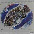 Sellos: REPUBLIQUE RWANDAISE. REPÚBLICA DE RUANDA. TILAPIA NILOTICA. 1F. Lote 164703942