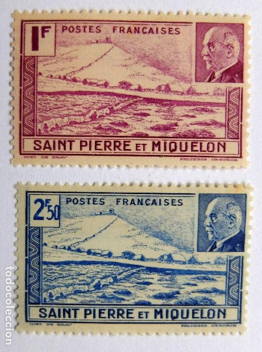 SELLOS DE SAINT PIERRE ET MIQUELON RF (Sellos - Extranjero - África - Otros paises)