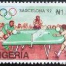 Sellos: 1992. DEPORTES. NIGERIA. 590. JUEGOS OLÍMPICOS BARCELONA. TENIS DE MESA. SERIE CORTA. NUEVO.. Lote 166915516
