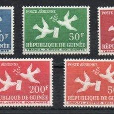 Sellos: GUINEA AÑO 1959 YV A 4/8*** CORREO AEREO - PALOMAS - AVES. Lote 167030784