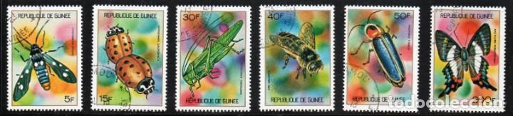 GUINEA AÑO 1973 YV 494/99*º INSECTOS MARIPOSAS FAUNA NATURALEZA (Sellos - Extranjero - África - Otros paises)