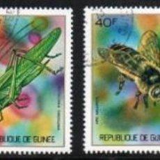 Sellos: GUINEA AÑO 1973 YV 494/99*º INSECTOS MARIPOSAS FAUNA NATURALEZA. Lote 167036708