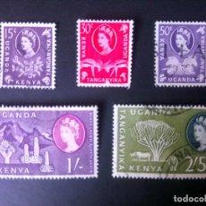 Sellos: KENYA, UGANDA Y TANGANIKA, 1960, ISABEL II . . Lote 167164240