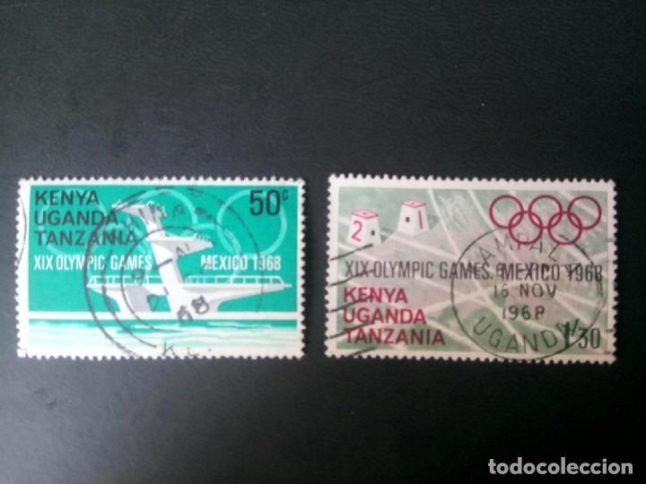 UGANDA, KENYA Y TANZANIA, 1968, JUEGOS OLÍMPICOS DE MÉXICO (Sellos - Extranjero - África - Otros paises)