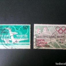 Sellos: UGANDA, KENYA Y TANZANIA, 1968, JUEGOS OLÍMPICOS DE MÉXICO . Lote 167166088