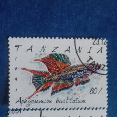 Sellos: TANZANIA 1991. YVERT 851/852. PECES. MATASELLADOS. Lote 168338804