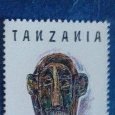 Sellos: TANZANIA 1992. YVERT 1366. MÁSCARA MAKONDÉ. MATASELLADO.. Lote 168355348