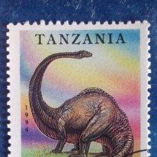Sellos: TANZANIA 1994. YVERT 1510. ANIMALES PREHISTÓRICOS. DINOSAURIOS. DIPLODOCUS. MATASELLADO. Lote 168387356