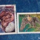 Sellos: TANZANIA 1994. YVERT 1650 Y 1653. AVES RAPACES. CÓNDOR DE LOS ANDES Y HALCÓN PEREGRINO. MATASELLADOS. Lote 168388108