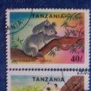 Sellos: TANZANIA 1994. YVERT 1654/1655.ESPECIES PROTEGIDAS. PANDA Y KOALA. MATASELLADOS. Lote 168388344