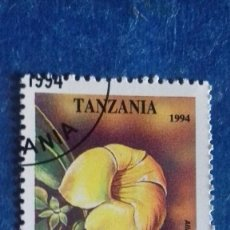 Sellos: TANZANIA 1994. YVERT 1706. FLORES. JAZMÍN DE CUBA. MATASELLADO. Lote 168395292