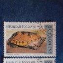 Sellos: TOGO 1996. YVERT 1518 Y 1520. TORTUGAS. STAUROTYPUS TRIPORCATUS. TORTUGA HOJA DE PECHO NEGRO. USADOS. Lote 168476124