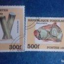 Sellos: TOGO 1999. YVERT 1688AK Y AM. MINERALES. TURMALINA Y MALAQUITA. MATASELLADOS. Lote 168478092