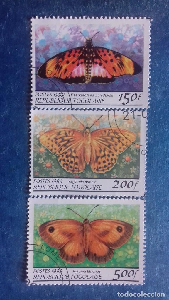 TOGO 1999. YVERT 1688AV/AW/AZ. MARIPOSAS. MATASELLADOS (Sellos - Extranjero - África - Otros paises)
