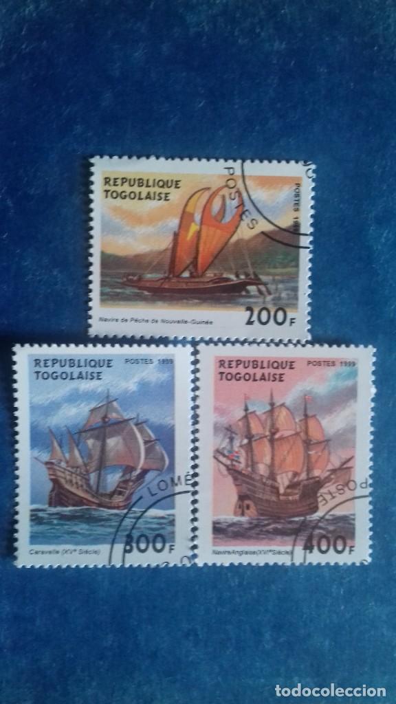 TOGO 1999. YVERT 1688BJ/BK/BL. BARCOS VELEROS. MATASELLADOS (Sellos - Extranjero - África - Otros paises)
