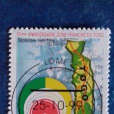 Sellos: TOGO 1999. YVERT 1688CA. 10º ANIVERSARIO ZONA FRANCA DE TOGO. MAPA. MATASELLADOS. Lote 168518540