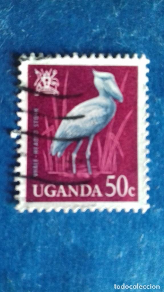 UGANDA 1965. AVES. PICOZAPATO. USADO. (Sellos - Extranjero - África - Otros paises)