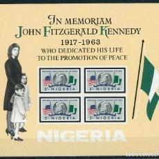 Sellos: NIGERIA 1964 HB IVERT 3 *** MUERTE DEL PRESIDENTE JOHN FIDGERAL KENNEDY - HISTORIA. Lote 171494782