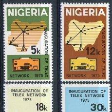 Sellos: NIGERIA 1975 IVERT 318/21 ** INAUGURACIÓN DE LA RED TELEX - COMUNICACIONES. Lote 171496104
