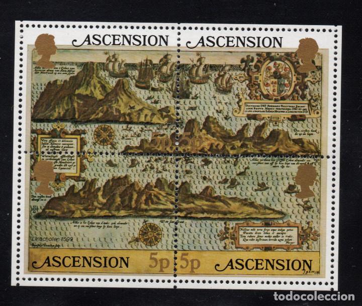 ASCENSION HB 12** - AÑO 1981 - MAPA ANTIGUO DE LA ISLA (Sellos - Extranjero - África - Otros paises)