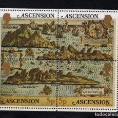 Sellos: ASCENSION HB 12** - AÑO 1981 - MAPA ANTIGUO DE LA ISLA. Lote 171695253