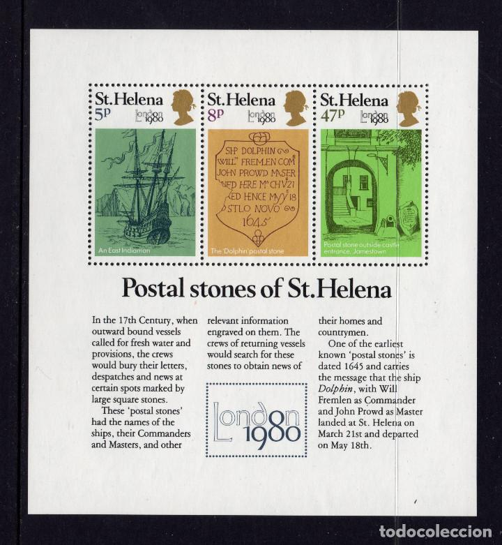 SANTA HELENA HB 4** - AÑO 1980 - LONDON 80, EXPOSICION FILATELICA INTERNACIONAL (Sellos - Extranjero - África - Otros paises)