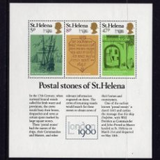 Sellos: SANTA HELENA HB 4** - AÑO 1980 - LONDON 80, EXPOSICION FILATELICA INTERNACIONAL. Lote 171698619