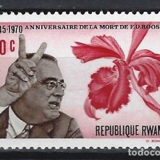Francobolli: RUANDA 1970 - 25º ANIV. DE LA MUERTE DE ROOSEVELT - SELLO NUEVO **. Lote 172012967