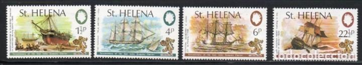 SANTA HELENA AÑO 1973 YV 265/68*** ASOCIACIÓN NAVAL DE LAS INDIAS ORIENTALES - BARCOS - TRANSPORTES (Sellos - Extranjero - África - Otros paises)