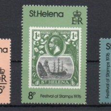 Sellos: SANTA HELENA AÑO 1976 YV 281/83*** DÍA DEL SELLO - FILATELIA - BARCOS. Lote 174983698