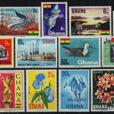Sellos: GHANA 1967 IVERT 278/92 *** SERIE BÁSICA - OBJETOS DIVERSOS. Lote 175108670