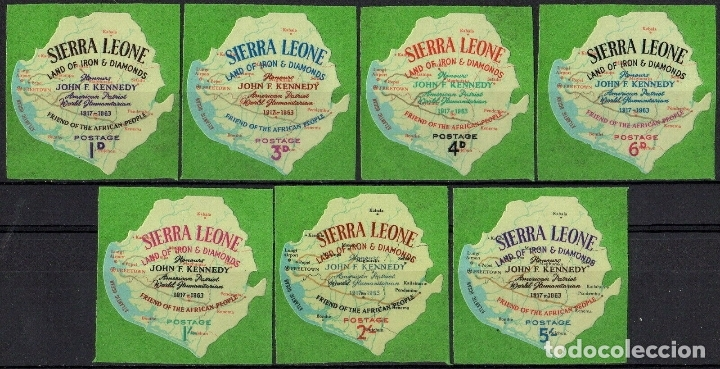 SIERRA LEONA 1964 IVERT 250/56 *** MUERTE DEL PRESIDENTE J. F. KENNEDY - HISTORIA (AUTOADHESIVO) (Sellos - Extranjero - África - Otros paises)