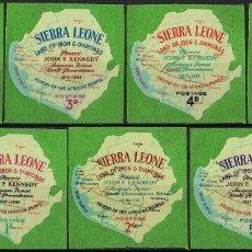 Sellos: SIERRA LEONA 1964 IVERT 250/56 *** MUERTE DEL PRESIDENTE J. F. KENNEDY - HISTORIA (AUTOADHESIVO). Lote 175574294