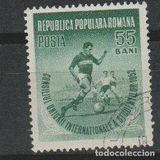 Sellos: LOTE J- SELLO DEPORTES FUTBOL AÑO 1955. Lote 175910027