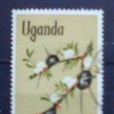 Sellos: UGANDA FLORA SELLO USADO. Lote 176005428