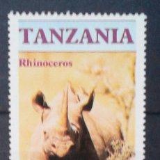 Selos: TANZÀNIA RINOCERONTE SELLO NUEVO. Lote 176588238