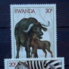 Sellos: RWANDA FAUNA AFRICANA SERIE DE SELLOS NUEVOS. Lote 177549219