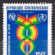 Sellos: REPUBLICA CENTROAFRICANA IVERT 445, DIA MUNDIAL DE LAS TELECOMUNICACIONES, NUEVO . Lote 177665774