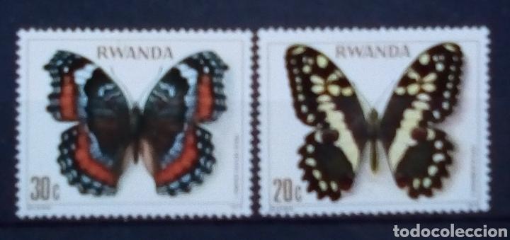 RWANDA MARIPOSAS SERIE DE SELLOS NUEVOS (Sellos - Extranjero - África - Otros paises)